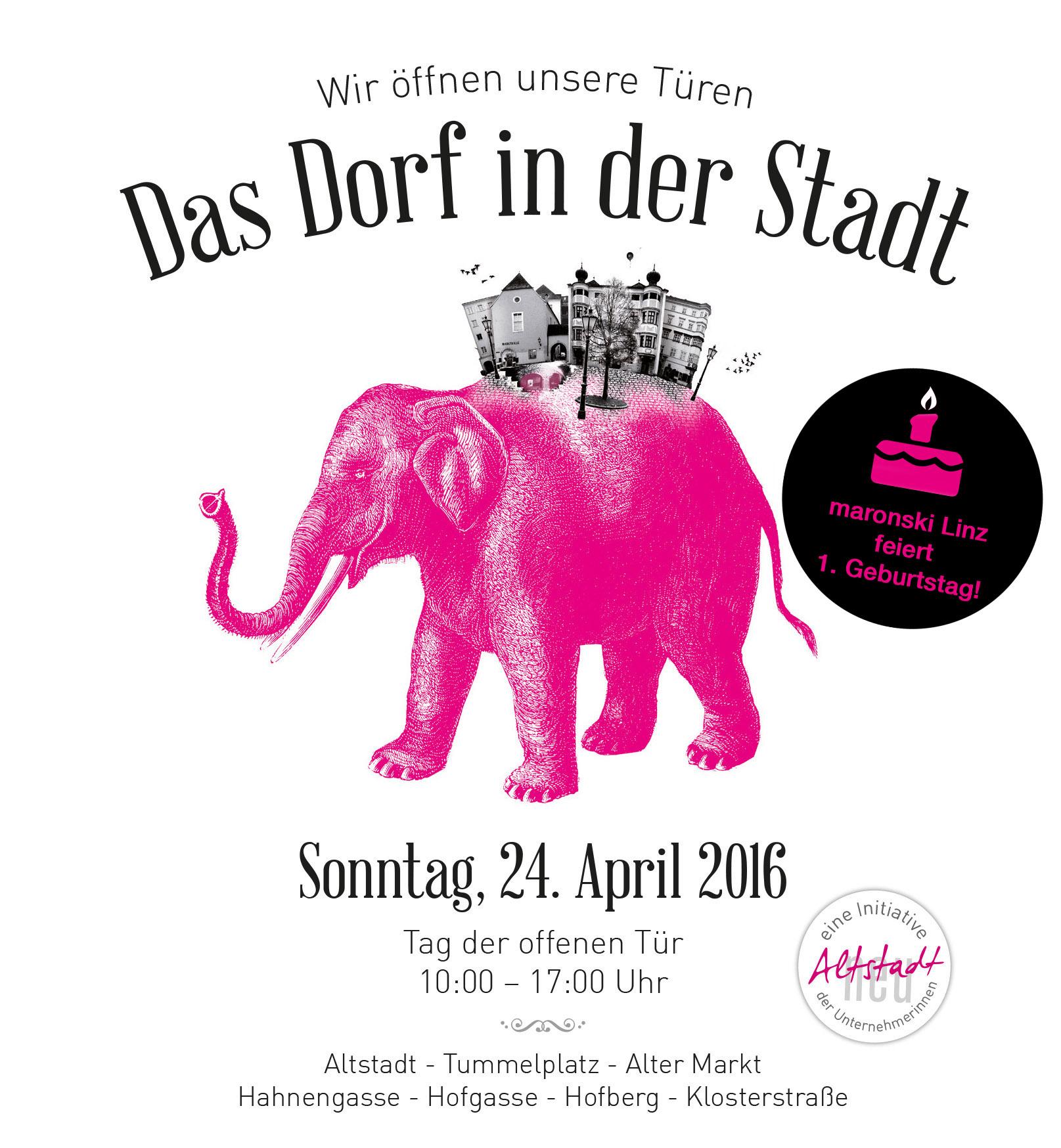 maronski Linz feiert 1. Geburtstag!  Tag der offenen Tür der Altstadt Linz